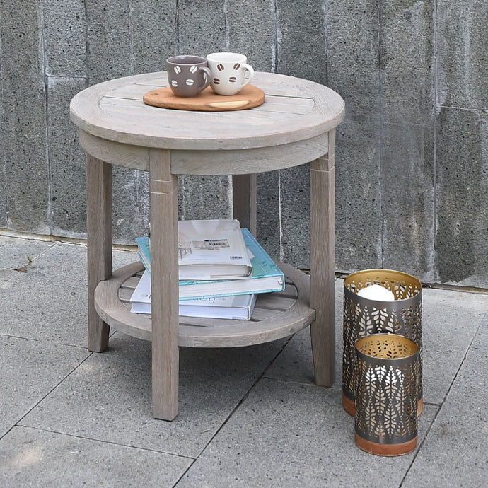 Outdoor Side Table with Shelf