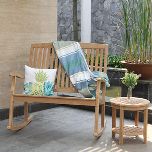 Relax and unwind in the Richmond loveseat rocker from Cambridge Casual. It's the perfect piece of outdoor furniture for those long summer nights