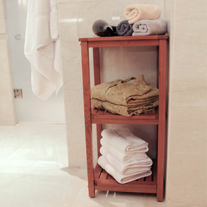 Shop for teak bathroom furniture at Cambridge Casuals today. Our great range includes this diverse Dussi Solid Teak Wood Freestanding 3 Tier Bathroom Storage Shelf.