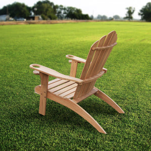 Purchase this fine Richmond Solid Teak Wood Adirondack Chair with Cup Holder today from Cambridge Casual. This elegant patio furniture will complete your garden seating arrangement. Richmond Solid Teak Wood Adirondack Chair with Cup Holder