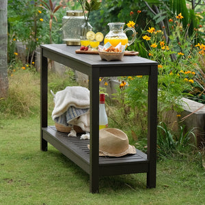 Discover the Carlota collection from Cambridge Casual and transform your outdoor space in a stunning way. Buy this stunning console table, today.