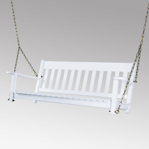 This Moni Porch Swing is one of the must have item from Cambridge Casual. You can feel the comforting deep contoured seat and relaxing sway motion. Available in black and white color. Buy now from Cambridge Casual.