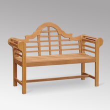 This comfortable Lutyens teak outdoor bench is ideal for creating a relaxing spot in the garden. Buy now & explore patio furniture from Cambridge Casual.