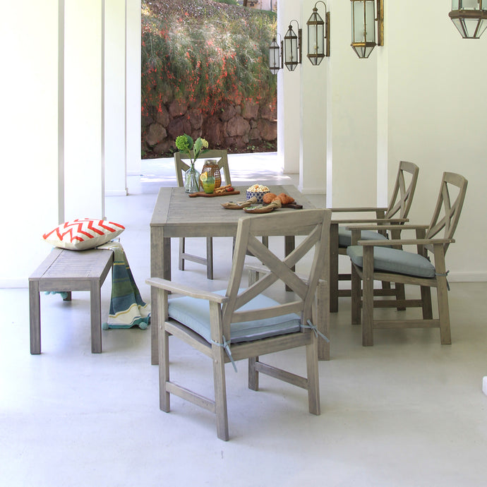 Bring home this gorgeous Carlota 6pc Patio Dining Set from Cambridge Casual patio furniture! Feel the good vibes from its rustic design and enjoy with your loved ones.