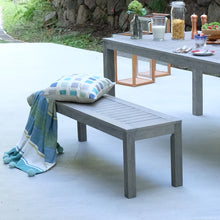 Carlota Solid Wood 6 Piece Outdoor Dining Set with Teal Cushion