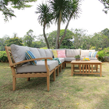 8pc Teak Patio Sectional Sets