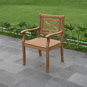 Solid Teak Wood Outdoor Dining Chair