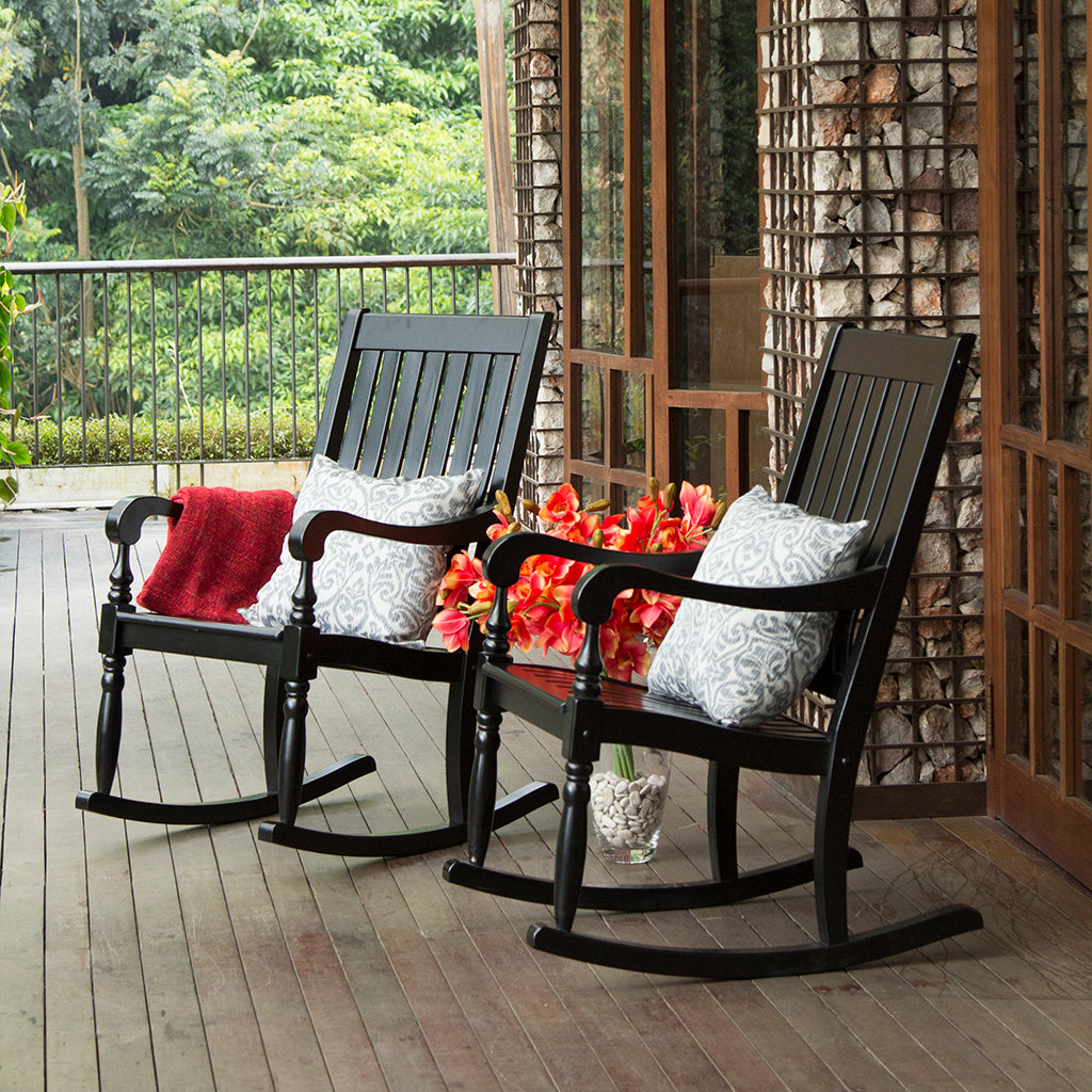... Bonn Black Rocking ChairThis Elegant Collection Of Bonn Rocking Chair  Provides A Relaxing Yet Classy Atmosphere ...