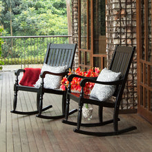 Bonn Black Rocking ChairThis Elegant collection of Bonn Rocking Chair provides a relaxing yet classy atmosphere to decorate your house. Enjoy the relaxing rocking motion from your front porch. Buy it now from Cambridge Casual - available in black and white color.