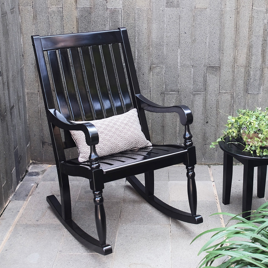 This Elegant collection of Bonn Rocking Chair provides a relaxing yet classy atmosphere to decorate your house. Enjoy the relaxing rocking motion from your front porch. Buy it now from Cambridge Casual.