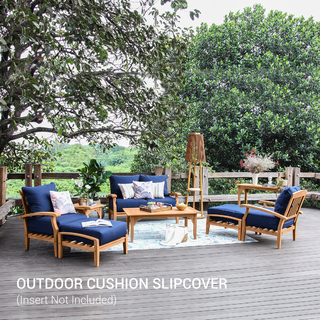 This Sunbrella Indigo Cushion Slipcover is perfect as a color addition to a Caterina set. With gorgeous indigo color creates a modern and stylish look. Purchase from Cambridge Casual today!