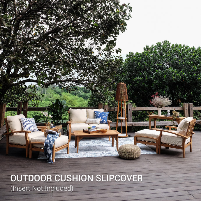 Purchase this Sunbrella Vellum Cushion Slipcover for Caterina 7 Piece Conversation Set to change the color of an existing cushion. Come with vellum color, bring new refreshment and modern style to your patio.