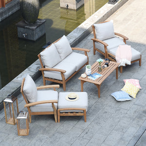 This coffee table can be the center of your peaceful patio or balcony. Buy it today and pair it with other Caterina furniture from Cambridge Casual.