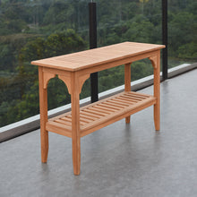 Enhance your garden seating area with this versatile Caterina Solid Teak Wood Outdoor Console Table. Part of the exquisite Caterina collection from Cambridge Casual.