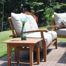 Purchase a Caterina love seat from Cambridge Casual to complete your outdoor furniture collection and enjoy the style and comfort of its teak design.