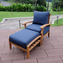 Finish your patio furniture arrangement with this comfortable Caterina ottoman, available now from Cambridge Casual patio furniture.