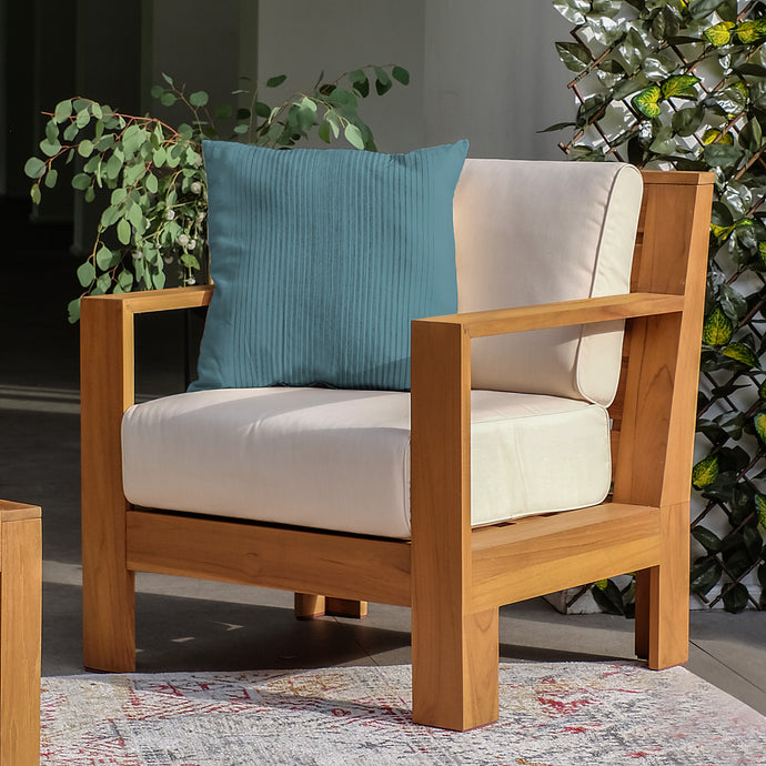 This charming Logan Solid Teak Wood Outdoor Lounge Chair is ideal addition for your patio seating arrangement. Purchase from Cambridge Casual now!