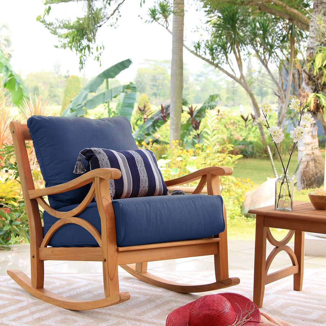 Own homey outdoor space with this lovely Abbington rocking chair from Cambridge Casual. Discover more of the Abbington collection here!