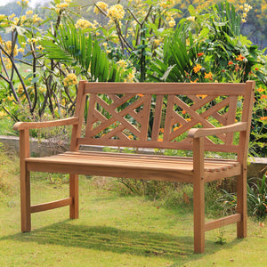 This Rocca Solid Teak Wood Outdoor Bench will be a perfect compliment to your existing outdoor space. Buy the whole collection & patio furniture from Cambridge Casual.