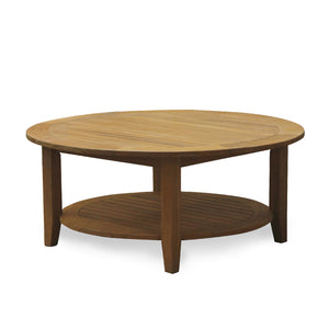 Own this Richmond Solid Teak Wood Outdoor Round Coffee Table today from Cambridge Casual! It adds good vibes to any outdoor furniture collection!