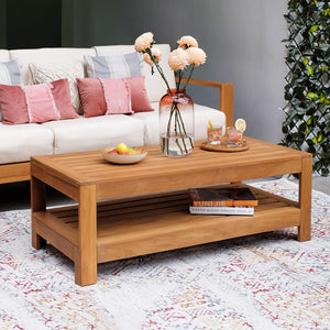 This Logan Solid Teak Wood Outdoor Coffee Table can be good additional for your beautiful patio or balcony. Purchase it today from Cambridge Casual patio furniture.