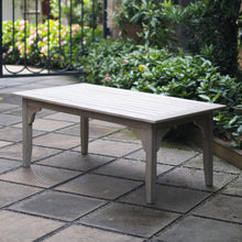 Find out more about this amazing centerpiece Caterina Weathered Teak Wood Outdoor Coffee Table from Cambridge Casual patio furniture!