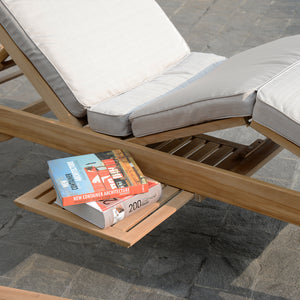 Enjoy the comfort and style of a Richmond chaise lounge with beige cushion. It's available to buy today from Cambridge Casual patio furniture!