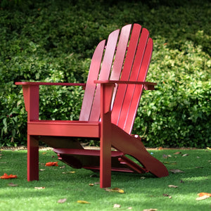 Find out more about the Moni Solid Wood Red Adirondack Chair FREE Tray Table, available now from Cambridge Casual. This would complete your porch or backyard. Purchase it from Cambridge Casual today.