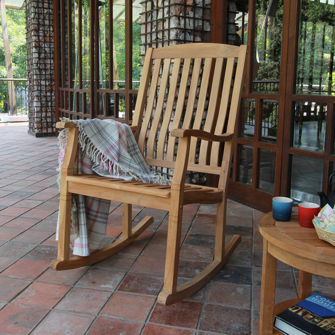 This gorgeous Richmond Solid Teak Wood Outdoor Rocking Chair is available now at Cambridge Casual patio furniture. Discover more and shop the full range here.