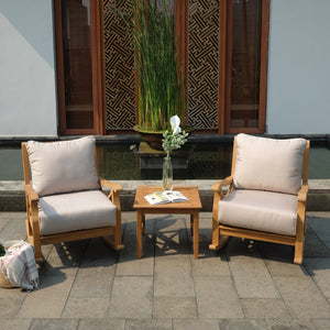 3pc Outdoor Rocker Chat Set