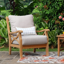 3 Piece Patio Conversation Set with Beige Cushion