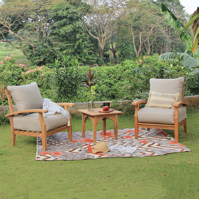 Create tempting outdoor space with this Caterina 3 piece chat set from Cambridge Casual patio furniture! Available to purchase today!