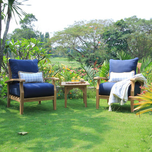 3pc Teak Outdoor Chat Set