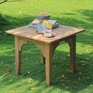 Bring home this Caterina 3pc Teak Outdoor Chat Set to style up your balcony or patio. It's available now from Cambridge Casual Patio Furniture!