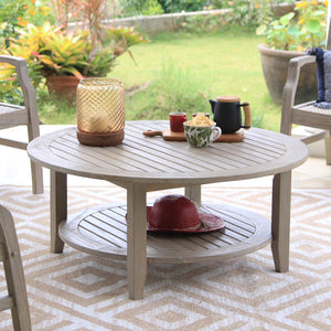 Own a Richmond Solid Teak Wood Outdoor Coffee Table today from Cambridge Casual. It adds character and style to any outdoor furniture collection.