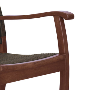 Create relaxing atmosphere in your porch with this Clayton Solid Wood Wicker Outdoor Rocking Chair to decorate your outdoor seating space. Available today from Cambridge Casual!