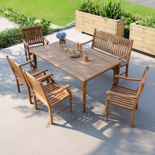 Discover Livingston Solid Teak Wood 6 Piece Outdoor Dining Set from Cambridge Casual. It's ideal for creating a vibrant garden atmosphere.