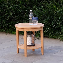 Add some pool-side flair to your garden or patio with this Richmond Solid Teak Wood Outdoor Side Table with Shelf. It's versatile and durable, available from Cambridge Casual.