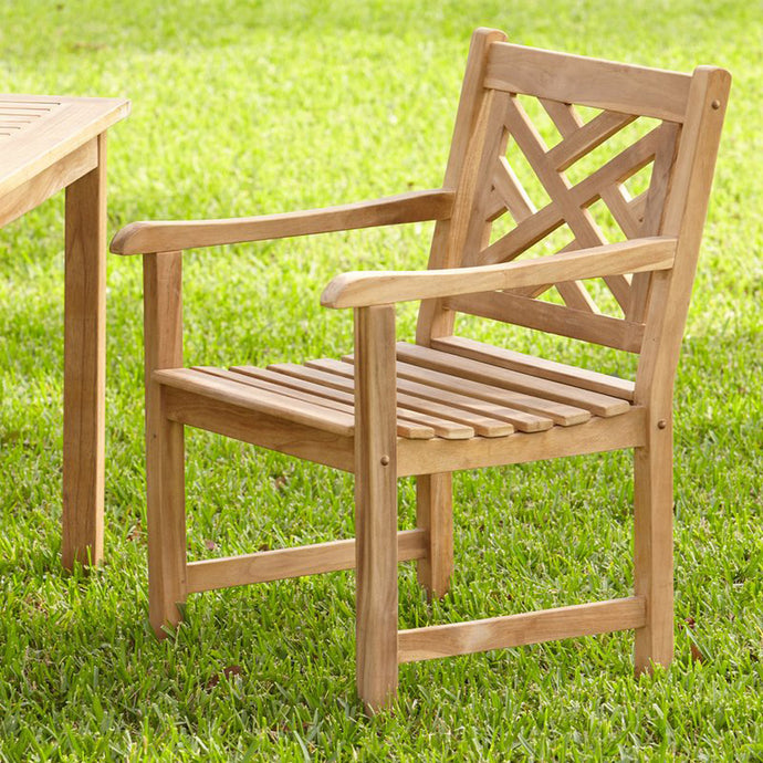 Rocca Teak Dining Chair Patio FurnitureBuy this Rocca dining chair to complete your outdoor dining arrangement. It's available today from Cambridge Casual.