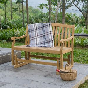 Find out why the beautiful Vermont Solid Teak Wood Outdoor Glider Bench will enhance your patio. Shop the range at Cambridge Casual today.