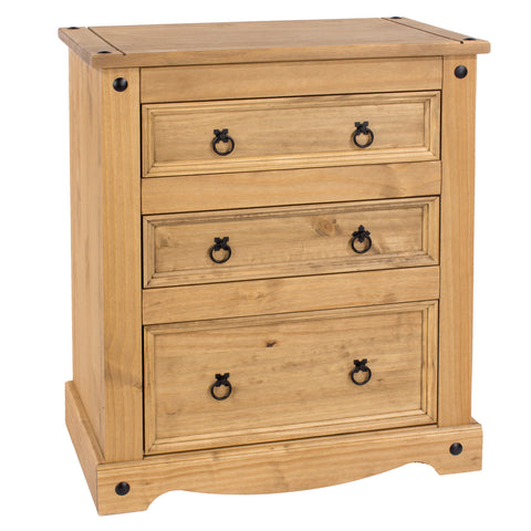 Corona Pine 3 Drawer Chest