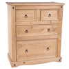 Image of Corona Pine 2 Over 2 Chest Of Drawers