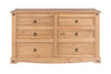 Image of Corona Pine 3 By 3 Drawer Wide Chest