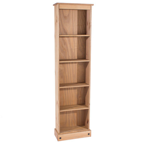 Corona Pine Tall Narrow Bookcase