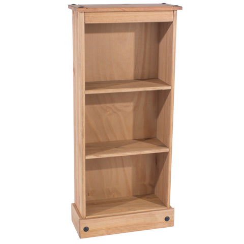 Corona Pine Low Narrow Bookcase