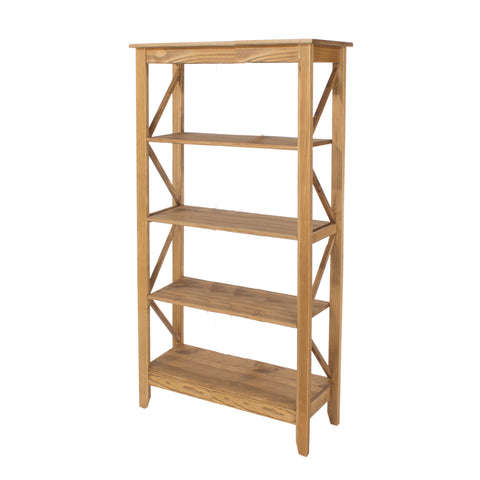 Corona Pine Wide Shelving Unit