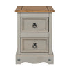 Image of Corona Grey 2 Drawer Petite Bedside Cabinet