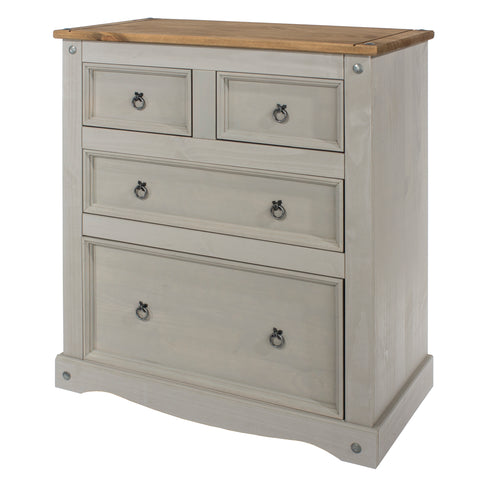 Corona Grey 2 Over 2 Drawer Chest