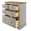Image of Corona Grey 2 Over 2 Drawer Chest
