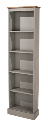 Corona Grey Tall Narrow Bookcase
